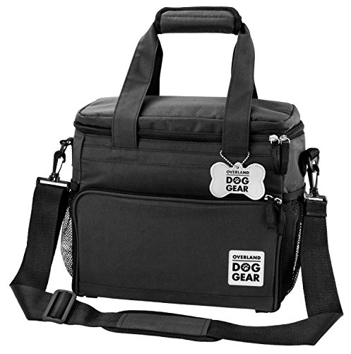Dog-Travel-Bag-Week-Away-Tote-For-Small-Dogs-Includes-Bag-2-Lined-Food-Carriers-Placemat-and-2-Collapsible-Bowls