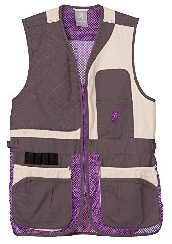 Vest Cloth Shooting (Browning Women's Trapper Creek Mesh Shooting Vest-Cream/Plum/Gray (Large))