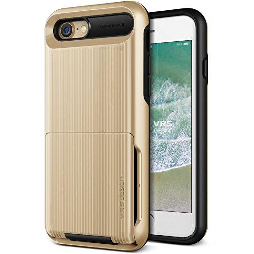 iPhone8 / iPhone7 ケース カード 収納 耐衝撃 VRS DESIGN Damda Folder 米軍 MIL 規格 背面 カードケース 5枚 衝撃 吸収 ハイブリッド カバー [ iPhone8ケース / iPhone7ケース ] ゴールド