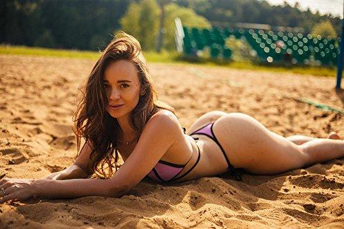LAMINATED 36x24 Poster: Girl On The Beach Bikini 2017 Blonde