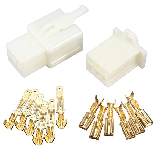Wooya 6 Way 2.8Mm Connector Terminal Kit For Car Motorcycle Pin Blade Scooter Atv