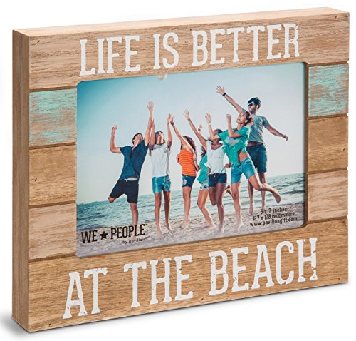 pavilion gift company 67242 we people life is better at the beach picture frame 5x7