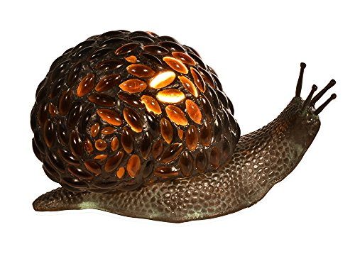 (Dale Tiffany TA15174 Jewel Snail Tiffany Accent Table Lamp Antique Bronze)