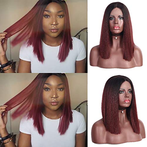 Costumes For Redheads (Iusun Short Straight Wigs,16'' Women's Full Front Heat Red Head Resistant Synthetic Wigs Cosplay Costume Wigs Daily Party Anime Hair Wig High Temperature Fiber)