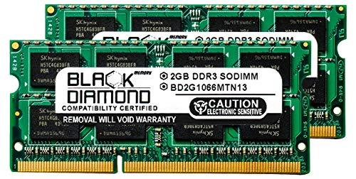 4GB 2X2GB RAM Memory for HP Pavilion Notebooks Dv6-1361sb Entertainment Black Diamond Memory Module DDR3 SO-DIMM 204pin PC3-8500 1066MHz Upgrade