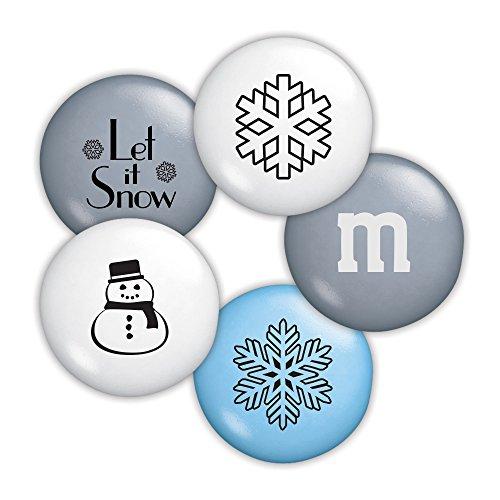 Winter Custom M&M'S 2lb Bulk Candy Bag