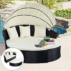 Amazon.com: Elegante sillón de mimbre para exteriores con ...