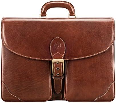Maxwell Scott Luxury Italian Men s Leather Briefcase – Tomacelli3 Tan