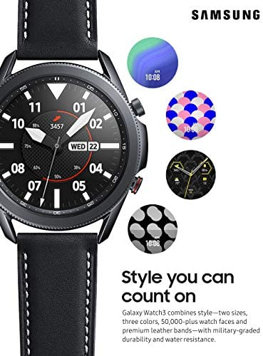 SAMSUNG Galaxy Watch 3 (45mm, GPS, Bluetooth, Unlocked LTE) Smart Watch with Advanced Health Monitoring, Fitness Tracking, and Long Lasting Battery - Mystic Black (US Version) WeeklyReviewer