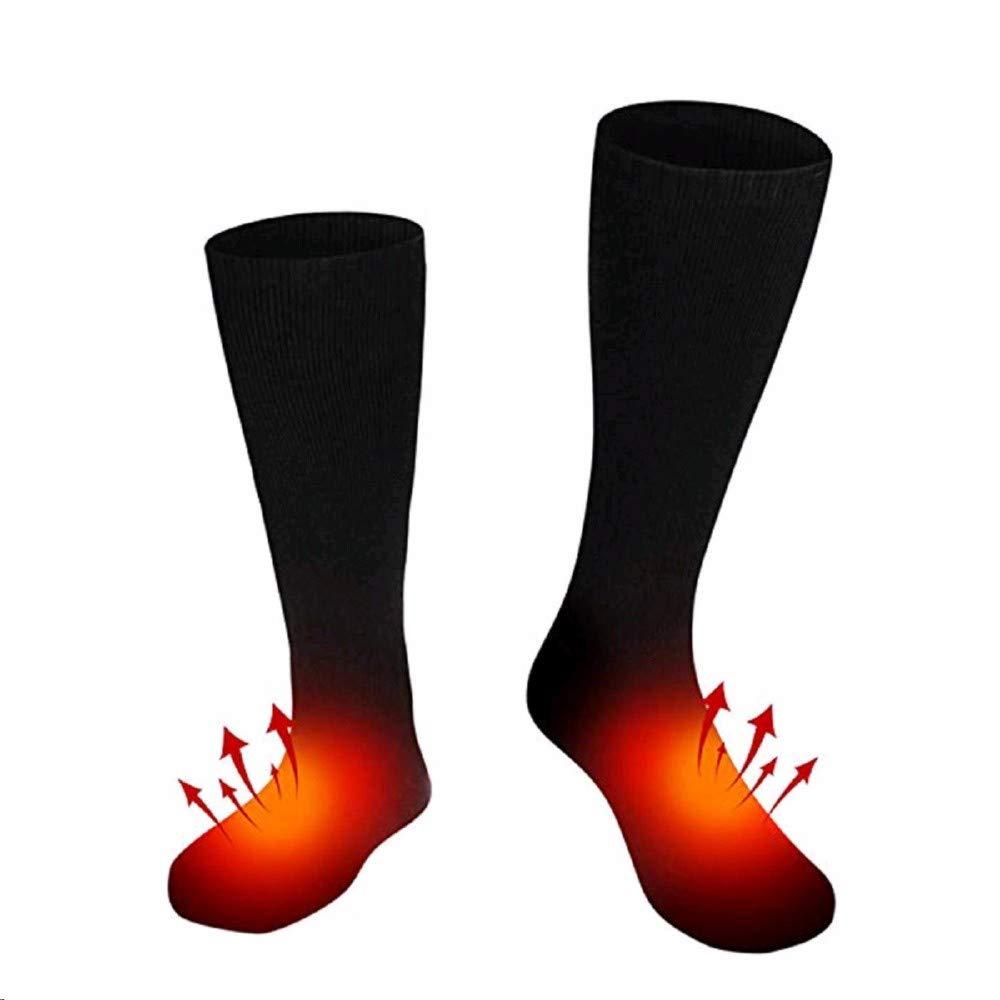 LINYANMY Batería recargable de 1 par Calcetines con calefacción Calentar el pie caliente para mujer y hombre
