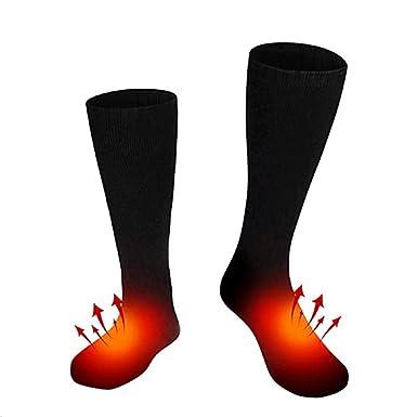 LINYANMY Batería recargable de 1 par Calcetines con calefacción Calentar el pie caliente para mujer y hombre: Amazon.es: Ropa y accesorios