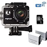 WiFi Action Camera Full HD 1080P with Sony Sensor, Anytek AT200 12MP 2 LCD Screen Waterproof Action Sports Cam Camcorder Underwater, 170° Ultra Wide-angle , 2x1350mAh Batteries, 32GB Micro SD Card
