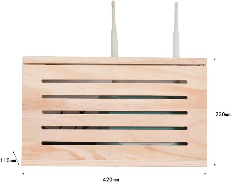 Bo/îtier docclusion pour bo/îte murale d/écodeur Wifi Cat Bo/îte de rangement pour routeur sans fil Boite de d/écoration pour bo/îte murale faible perforation gratuite
