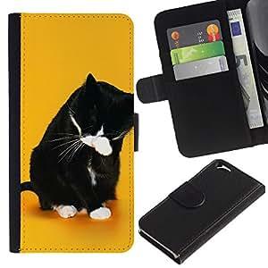 Ihec-Tech / Flip PU Cuero Cover Case para Apple Iphone 6 4.7 - Funny Lol Wtf Cat