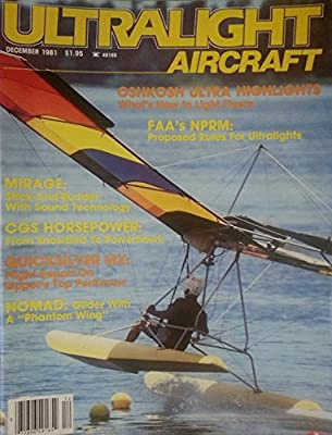 """Ultralight Aircraft December 1981 - Nomad - Glider with a """"Phantom Wing"""""""