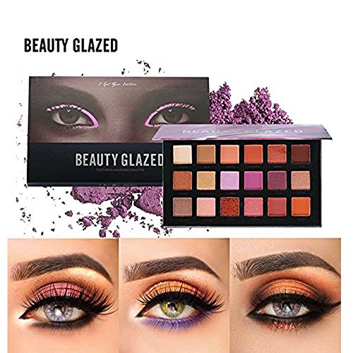 Beauty Glazed Matte +Shimmer Blendable Eyeshadow Palettes 18 Colors High Pigmented Waterproof Eye Shadow Powder Make Up Palette Long Lasting