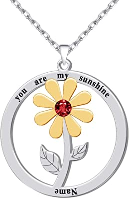 personalized sterling silver necklace You are my sunshine necklace father daughter gift mothers day you are my sunshine jewelry