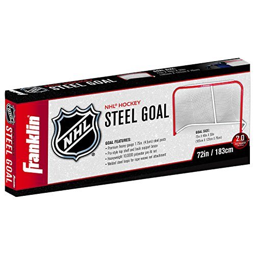 Franklin Sports Professional Steel Street Hockey Goal – 72 x 48 Inches – DiZiSports Store
