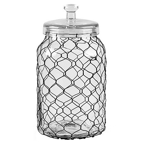 Chicken Wire Wrapped Clear Canister (141 OZ.) ()