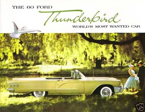 1960 FORD THUNDERBIRD BEAUTIFUL DEALERSHIP SALES BROCHURE - ADVERTISMENT - OPTIONS - ACCESSORIES TBIRD -