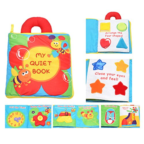 Demana Baby First Non-Toxic Soft Cloth Book Baby Fabric Book Kids Early  Learning Educational Toys