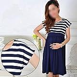 Women Long Dresses Maternity Nursing skirt for Pregnant Women Breastfeeding Women's Clothing Mother Home Clothes Size :L