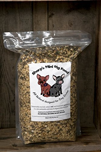 Sharp's Mini Pig Food (10 Pound) ALL NATURAL Ingredients