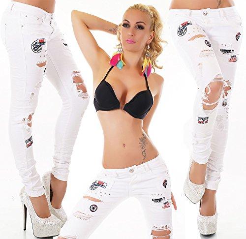 WeaModa - Vaqueros - para mujer Weiß 3