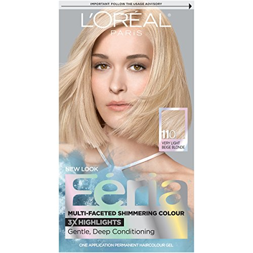 L'Oréal Paris Feria Permanent Hair Color, 110 Starlet (Very Light Beige Blonde)