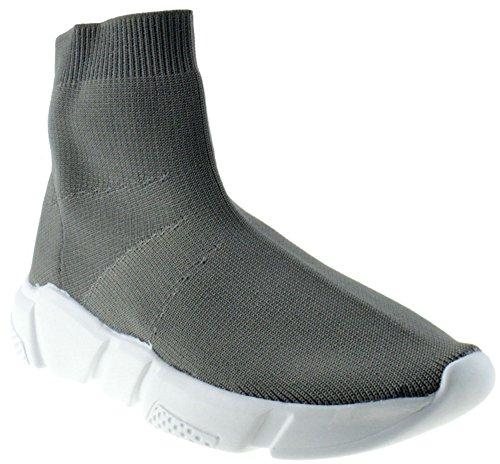 Forever Link Sock 12 Mujeres Tela Elástica De Punto Hightop Sneaker Gris