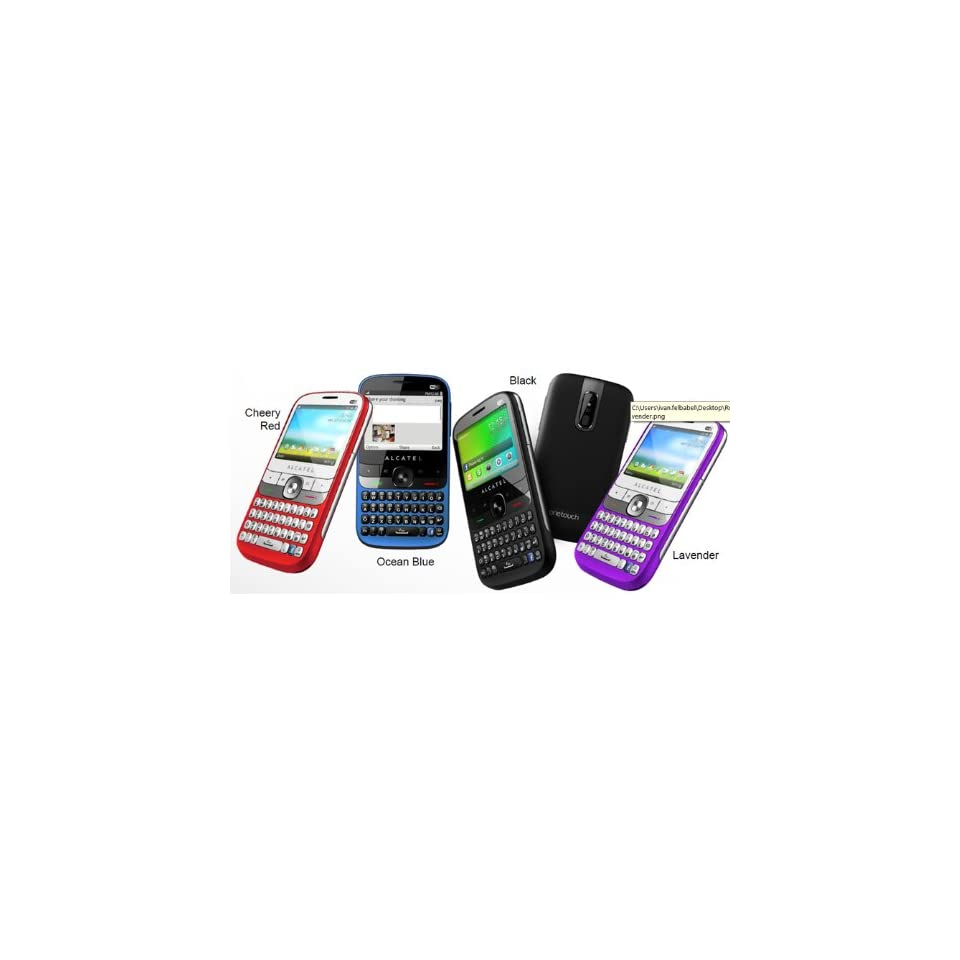 Alcatel One Touch 838 Spicy Red (Unlocked GSM Phone) Cell Phones & Accessories