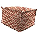 Jordan Manufacturing Outdoor Patio Square Poof Ottoman, Kent Crossing Nectar