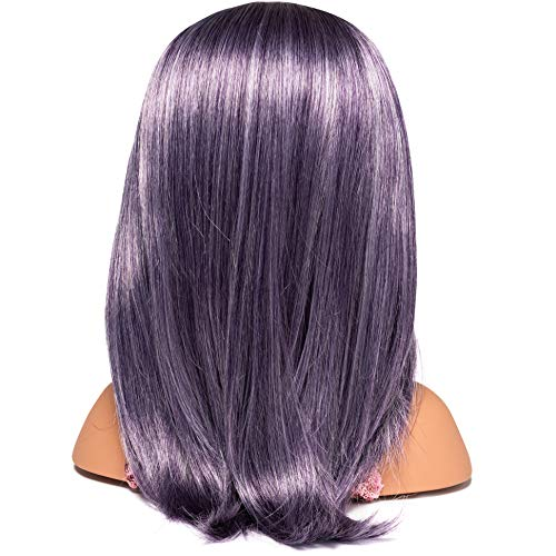 """I'M A STYLIST Styling Head Deluxe Lola - Doll Mannequin Head, Interchangeable Wig, Synthetic Fiber Purple Hair Includes Magnetic Lashes, Hair Accessories, Earrings & Face Gems for Kids 8+ Years - 13"""""""