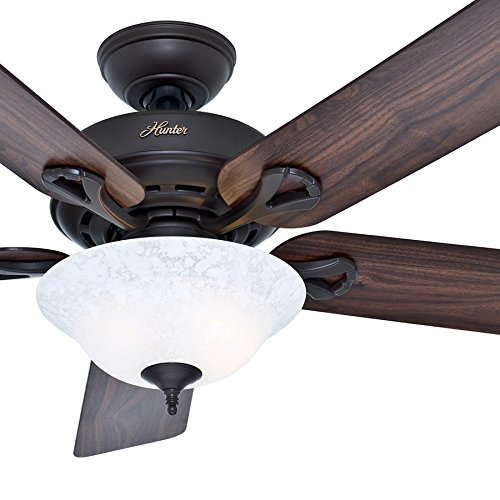 (Hunter Fan 52 inch New Bronze Ceiling Fan with a Snowflake Scavo Light Kit, 5 Blade (Renewed))