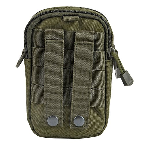 914f3f87544a SunTrade Tactical Molle Pouch Belt Waist Pack Bag Military Waist Fanny Pack  Phone Pocket (Green)