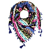 Distressed Women's Triangular Scarf Bandana Colorful Shawl Wild Colors