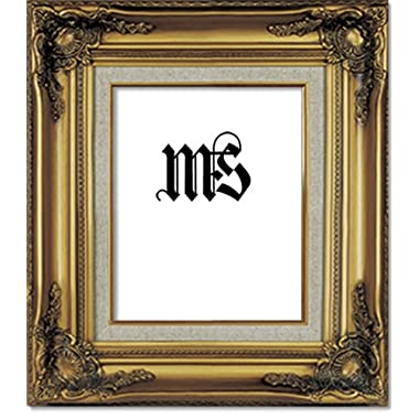 Imperial Frames 8 by 10-Inch/10 by 8-Inch Picture/Photo/Certificate Frame, Antique Gold Molding with Rich Floral Designs and a Canvas Liner
