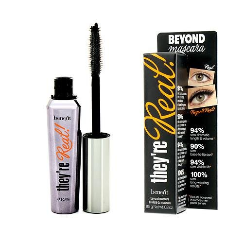 BENEFIT COSMETICS they're real! lengthening beyond mascara FULL SIZE 8.5 g Net wt. 0.3 oz. BLACK 2R01