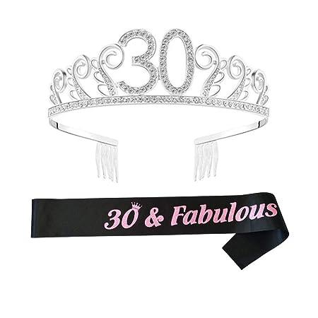ReTink Cumpleaños Tiara y Banda, Tiara Cumpleaños Crown para ...