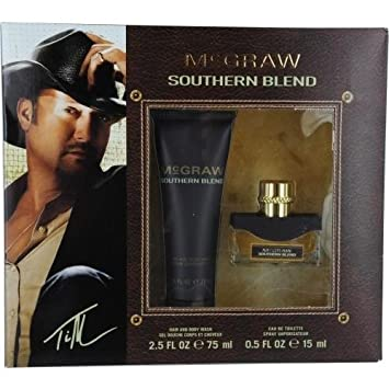 MCGRAW SOUTHERN BLEND by Tim McGraw Gift Set for MEN EDT SPRAY .5 OZ HAIR AND BODY WASH 2.5 OZ