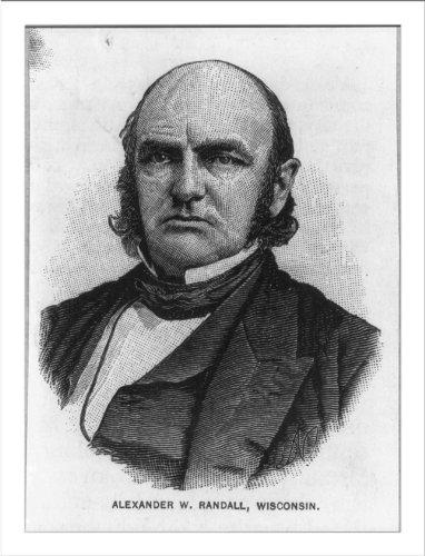 Historic Print (L): [Alexander Williams Randall, 1819-1872, bust portrait, fa...