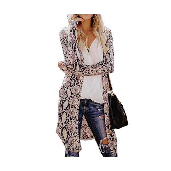 Kerrian Online Fashions 51Bol%2BofbnL Women Cardigan Casual Long Sleeve Tops Printed Loose Open Front Outwear Autumn Maxi Sweater Coat Kimono Spring Breathable