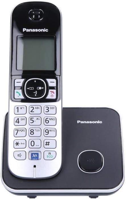 Panasonic KX-TG6811FXB - Teléfono inalámbrico digital (DECT, polifónico, escritorio, auricular, giratorio), negro [versión importada]: Amazon.es: Electrónica