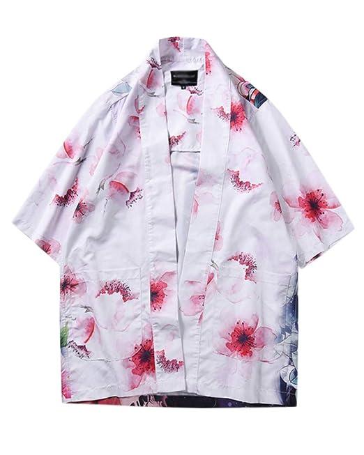 PengGengA Chaqueta Japonesa del Estilo del Kimono De Los ...