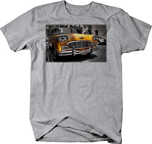 Classic Yellow Taxi Cab Hotrod Vintage Retro Automotive Art Tshirt - (Taxi Rods)