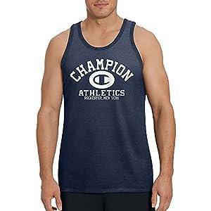 Champion Men's Classic Jersey Ringer Tee, Navy Athletics, XXL