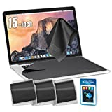 "Clean Screen Wizard Microfiber Screen Keyboard Cleaner and Screen Keyboard Protector- 4 PACK (3 X-Large Cloths/Keyboard Covers & Microfiber Sticker for MacBook Pro 15, Laptops 15"" Screen"