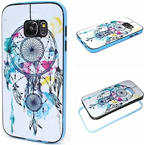 Galaxy S7 Case,S7 Case,Gift_Source [Dreamcatcher] Soft Silicone Bumper With Hard Plastic Back Cover Hybrid Impact Shockproof Case Cover for Sales