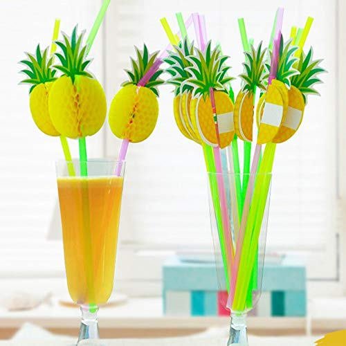 Disposable Party Tableware - 30pcs Disposable Straw Cup Drinking Pineapple Hawaii Party Birthday Wedding Supply Decoration - Tableware Party Disposable