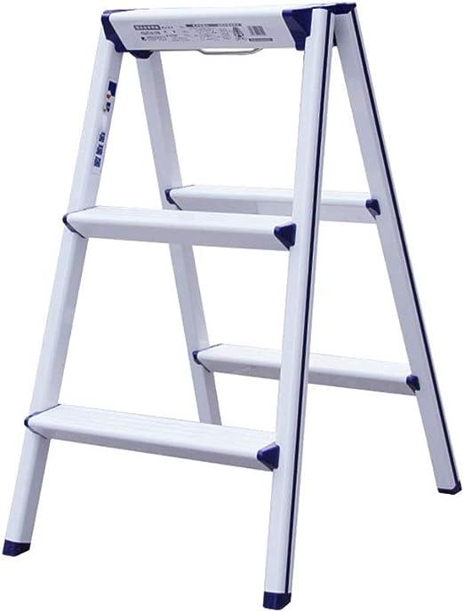 Taburete con Escalera de 3 escalones Plegable de Aluminio Engrosado, de Doble Uso para Oficina y hogar: Amazon.es: Hogar